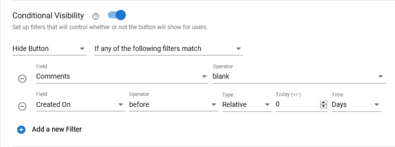 Conditional Action Buttons